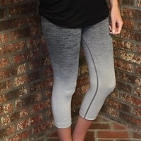 Black Ombre Workout Leggings