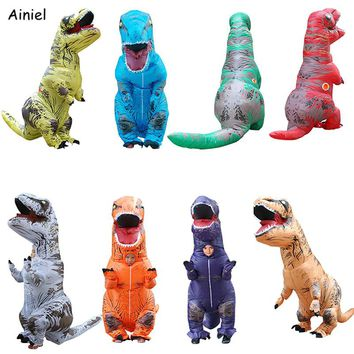 Inflatable Dinosaur Costumes Costume Halloween Kids Adult T-Rex Fancy Dress Ride Animal Jumpsuit Themed Cosplay Costume Adult