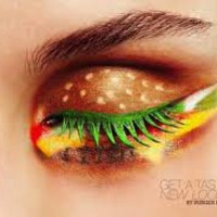 cheeseburger eye makeup - Google Search
