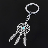 Dream Catcher Toe keychain Feather Tassels Keyring K Gift