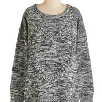 ModCloth Mid-length Long Sleeve The Art of the Matter Sweater