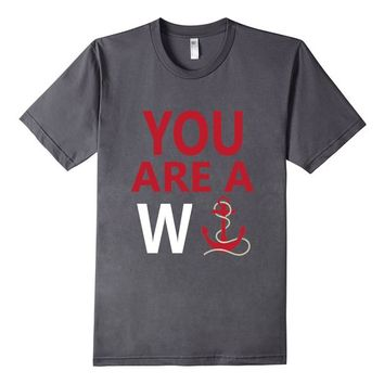 You Are A Wanker Vintage Anchor Nautical Nantucket Shirt