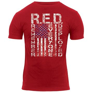 Rothco Athletic Fit R.E.D. (Remember Everyone Deployed) T-Shirt