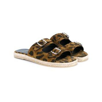 SAINT LAURENT | Leopard Print Espadrille Sandals | Womenswear | Browns Fashion