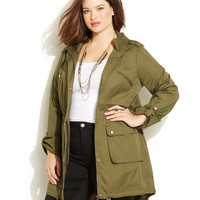 Junarose Plus Size Military Jacket