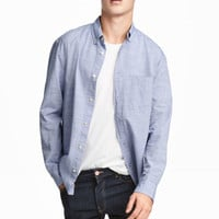 Poplin Shirt Regular fit - from H&M