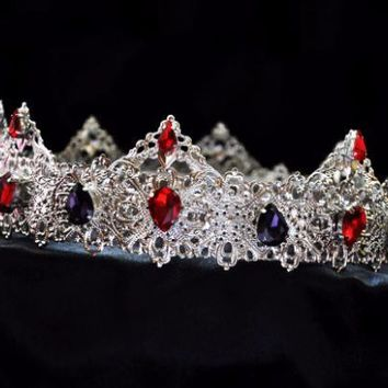LORETO - SILVER MEDIEVAL RED PURPLE CROWN