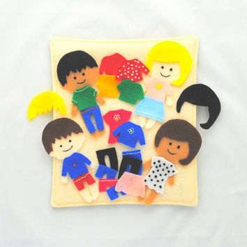 Dress Up Doll Felt Pieces // Doll Felt Board // Travel Felt Pieces // Busy Book Expansion