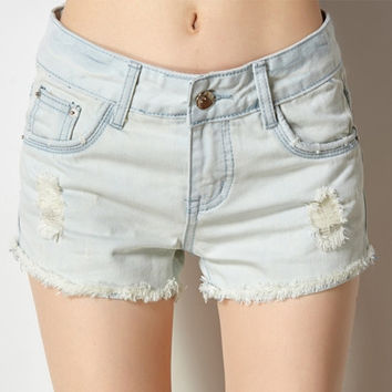 Womens casual cutoff jeans shorts black plus size ripped denim shorts ladies fashion blue short summer blank jeans short femme