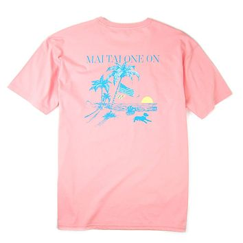 Mai Tai One On Tee in Porch Pink by Southern Proper