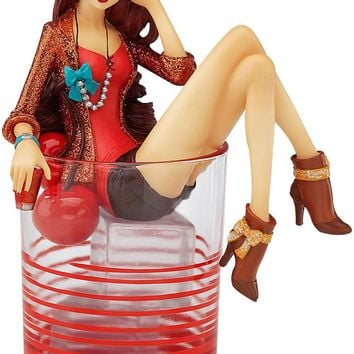 You Rock Manhattan Girl Figurine & Wine Glass