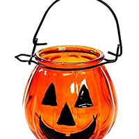 Halloween Decoration Glass Jack O Lantern - Pack of 1