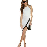 Sale-clear Cut White Halter Dress