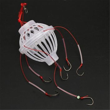 New Arrival 5*6cm 18g Sea Monsters with 6 Strong Hook Spherical Basket Brabs Sea Fishing Tackle Accessory Tools
