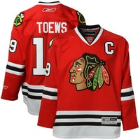 Reebok Jonathan Toews Chicago Blackhawks Premier NHL Player Jersey - Red