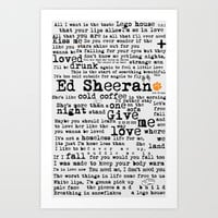 Ed Sheeran + Art Print by Adel