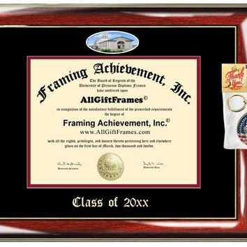 AllGiftFrames Carnegie Mellon University Custom Diploma Frame Embossed Best Graduation CMU Degree Frame Double Mat Campus Fisheye Picture Frame Cheap Degree Certificate Holder Graduate Gift