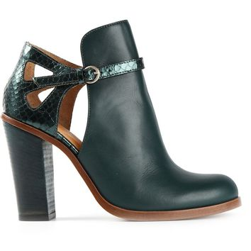 MM6 By Maison Martin Margiela cut out ankle boots