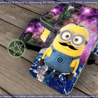 Despicable Me Minions Nebula Mustache for iPhone 4, iPhone 5, Samsung S4, Samsung S3, Samsung S2 Hot Edition