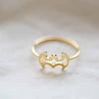 Adjustable Batman, Bat Ring for daily, party use or gifts. Minimalist Jewelry, R201N = 1927956292