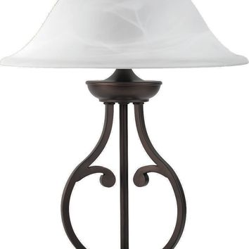 Curvacious Designer Traditional Table Lamp, Bronze