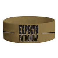 Harry Potter Expecto Patronum Thick Rubber Bracelet: WBshop.com