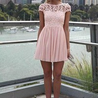 Splended angel lace Peach dress from LullaBellz