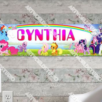 Personalized/Customized My Little Pony Poster, Border Mat and Frame Options Banner 140