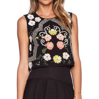 Needle & Thread Locket Top in Black
