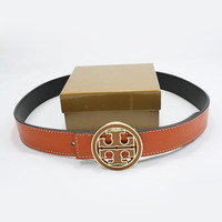 Perfect TORY BURCH Woman Fashion Smooth Buckle Belt Leather Belt