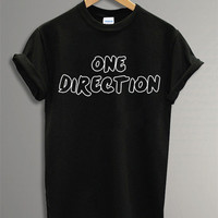 One Direction Shirt The One Direction t-Shirt Symbol Black and White  For Men Or Women Size TS 26