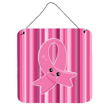 Breast Cancer Awareness Ribbon Face Wall or Door Hanging Prints BB6978DS66