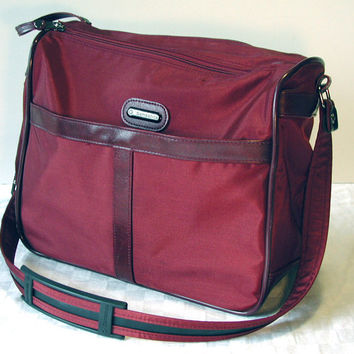 Samsonite Messenger Bag Merlot Vintage Travel Bag CarryPak46
