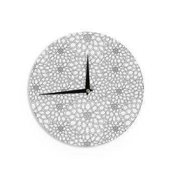 "Julia Grifol ""White Flowers"" Wall Clock - Outlet Item"