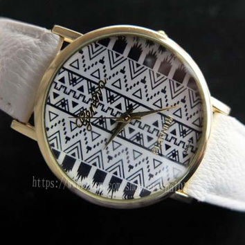 The original style watches, tribal totem watches, men and women watch, students watch, unique watches