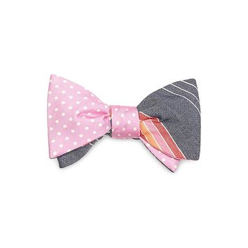 Men's Small Dot and Alternating Stripe Reversible Bow Tie | Brooks Brothers