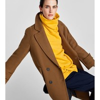 LONG CROSSOVER COAT : 1 of 2