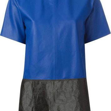 DCCKIN3 T By Alexander Wang bi-colour leather top