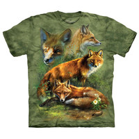 The Mountain Men's  Red Fox Collage T-shirt