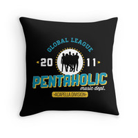 'pentatonix' Throw Pillow by ninjaliv