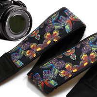 Butterflies  Camera Strap.  Camera Strap,  Camera Accessories