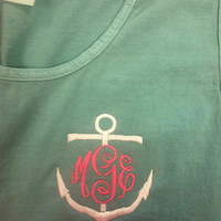 Monogrammed Anchor Comfort Color Tank Top