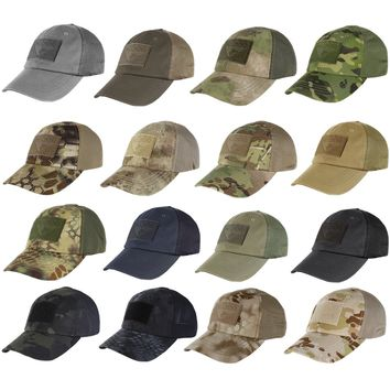 Condor Tactical Baseball Style Military Hunting Hiking Outdoor Mesh Cap Hat TCM