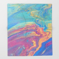 Colorful Galaxy Throw Blanket by livingworddesigns