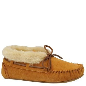 Tamarac by Slippers International Women's Molly Moccasin Blitz,Chestnut,7 M US