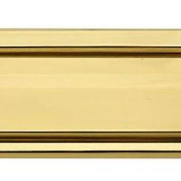"National Hardware® N197-913 Mail Slot, 1-1/2"" x 7"", Polished Solid Brass"