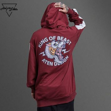 ca qiyif King of Beast Sweat Homme Hoodie Winter Pullover