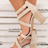 Back To You Strappy Booties (Stone)