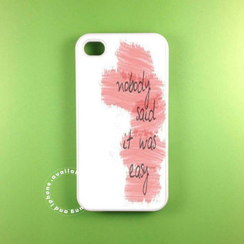 coldplay lyric cover  fit on iphone 5S iphone 5C iphone 5 iphone 4 S samsung galaxy 3 and samsung galaxy s4