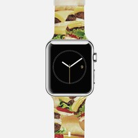 Cheeseburger Print Apple Watch Band case by Rex Lambo | Casetify